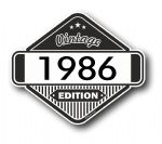 VIntage Edition 1986 Classic Retro Cafe Racer Design External Vinyl Car Motorcyle Sticker 85x70mm